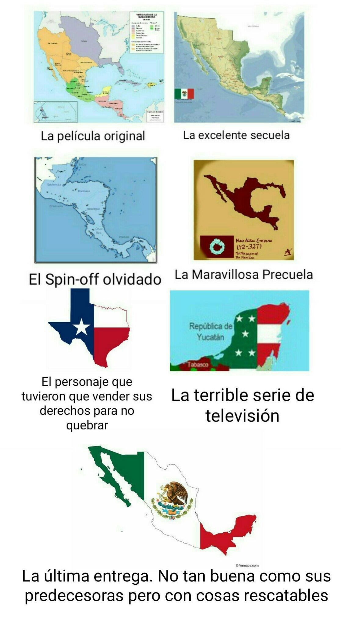 Sería mejor poner todos como banderas en forma de los mapas pero no las consigo - meme