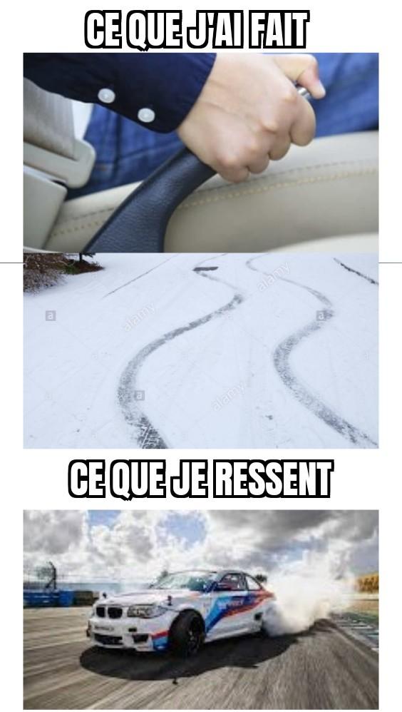 Dérapage sur la neige - meme