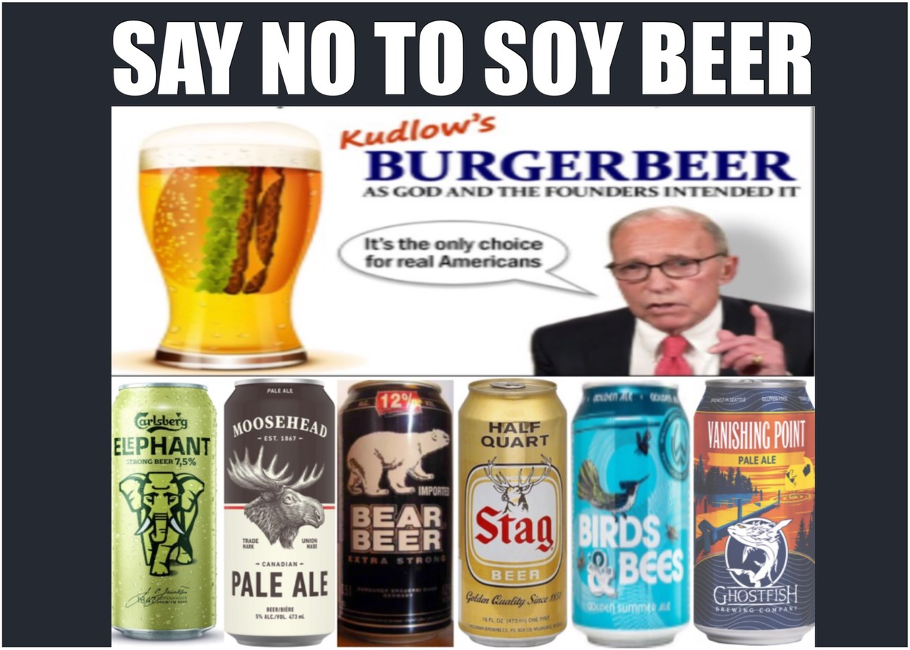 The Big Four: Water, Grains, Hops, Yeast. It's All Plant Based Larry - meme