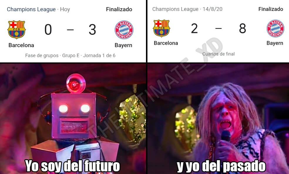 apuesto 2 pesos a que el Barcelona baja de división - meme