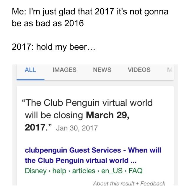 damn it 2017 - meme