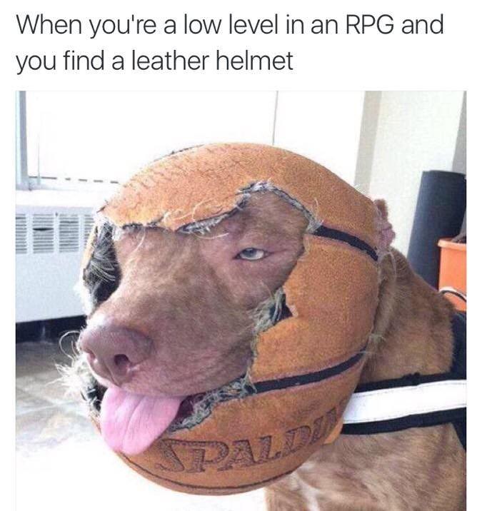 Get a better helmet - meme