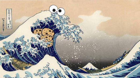 The Great Wave Of Cookies - meme