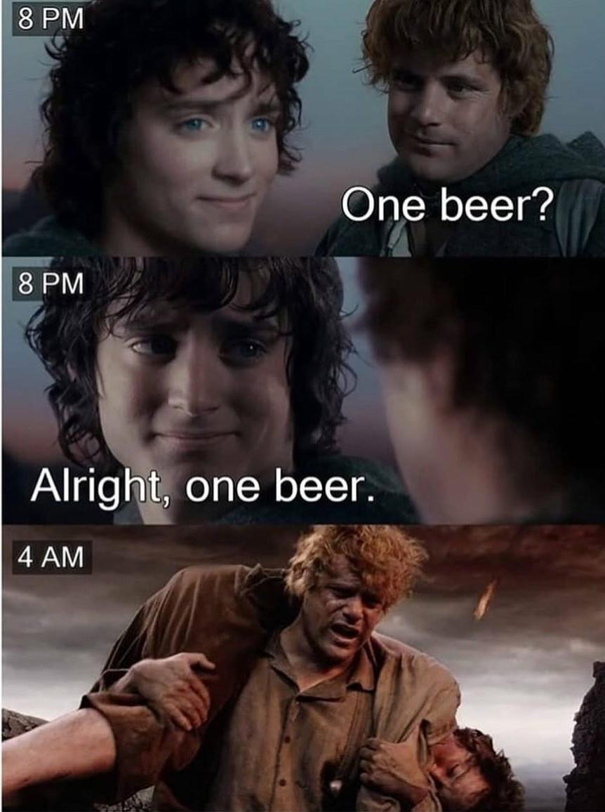 One Beer? - meme