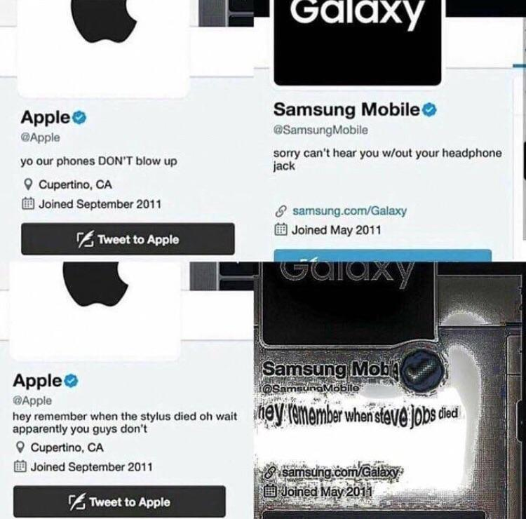 RIP Steve Jobs but Samsung doesn't really care - meme