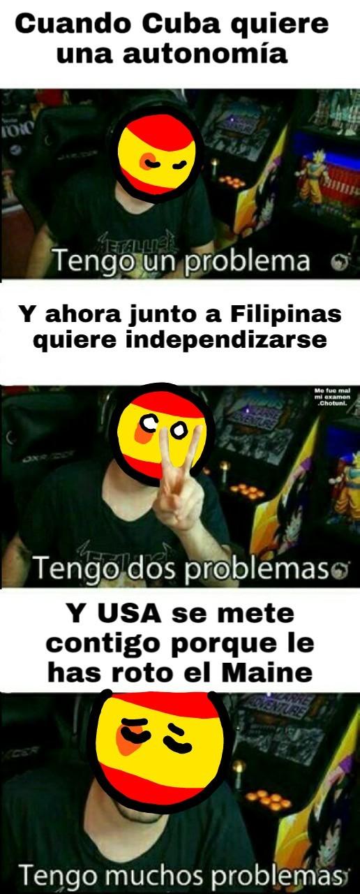 Española cae porque se volvió Gili - meme