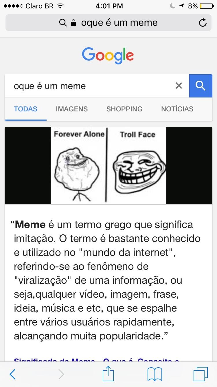 É um termo grego que significa imitação...REPOSTS - meme