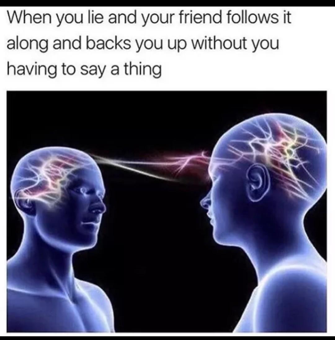 Telepathy is the future - meme