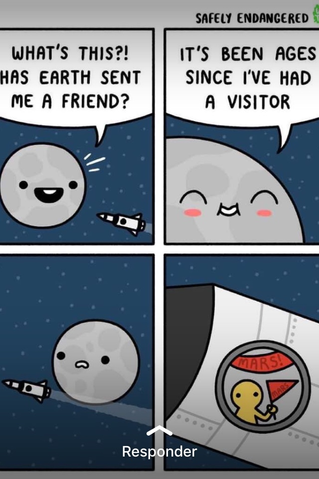 Sad moon - meme