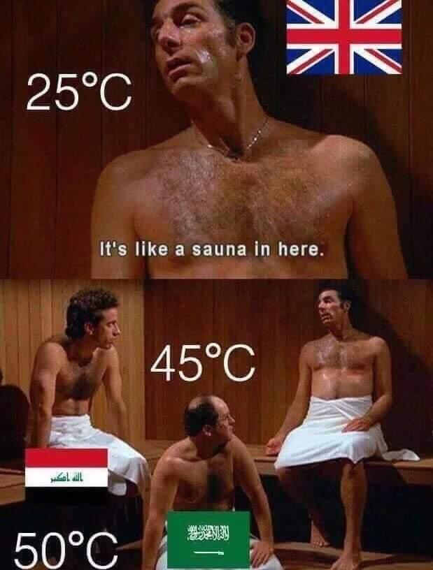 Heat wave be like - meme