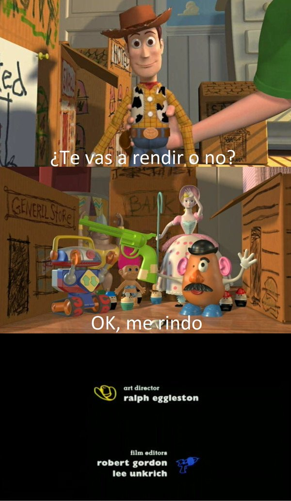 Final alternativo de Toy Story - meme