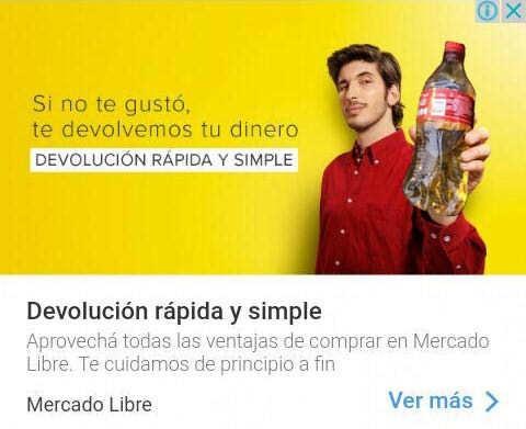 publicidad de mercado libre con coca de piña - meme