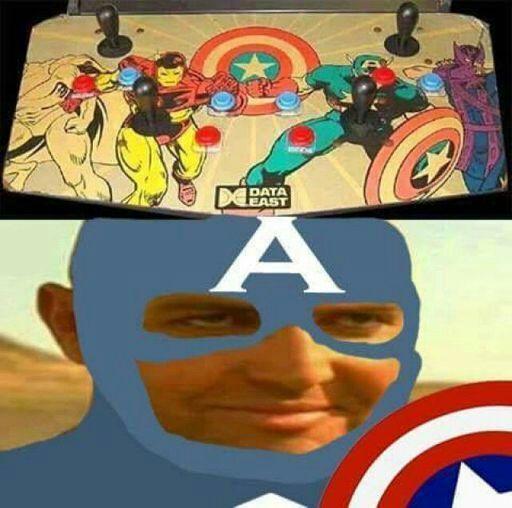 Capitán América entendedor de referencias mmmm - meme