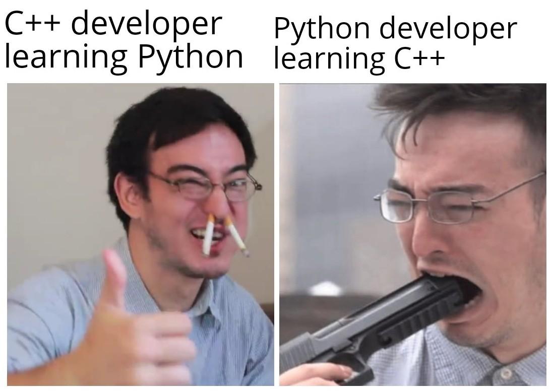 Python is so damn easy breezy - meme