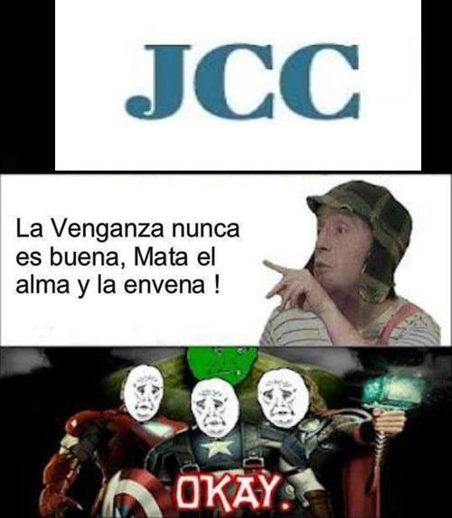 jcc domados por el chavo - meme
