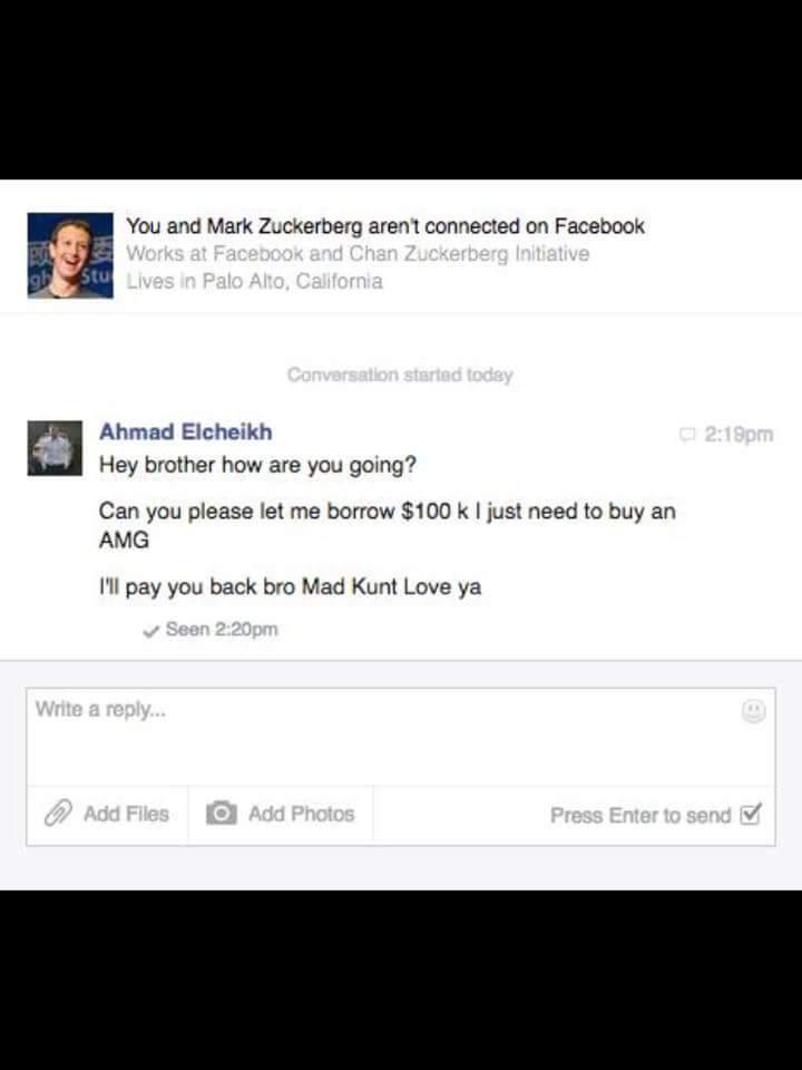 Mark is giving away money ! - meme