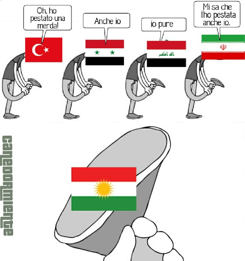 Non so se siete a conoscenza della questione curda, in caso contrario chiedete nei commenti perché il titolo è troppo lento a scorrere. - meme
