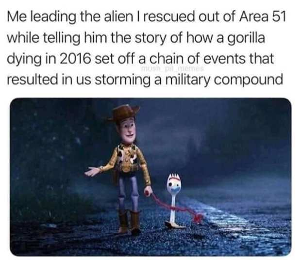 RIP harambe, Long live the aliens - meme