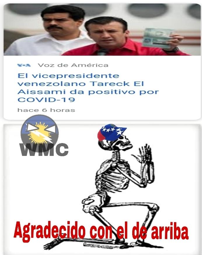 Comunidad, ya van 3 chavistas contagiados - meme