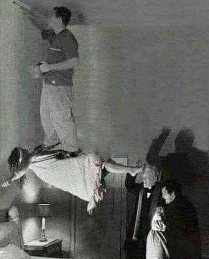 Pintou um exorcismo - meme