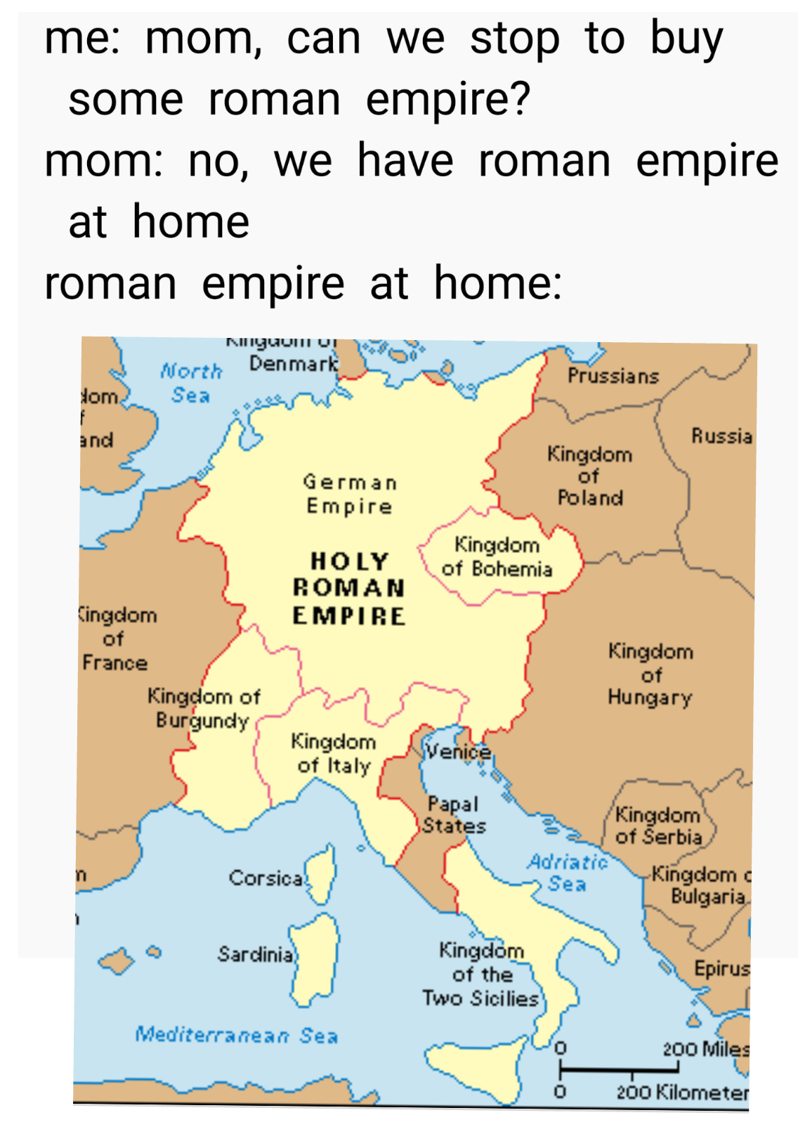 The same applies to byzantine empire - meme