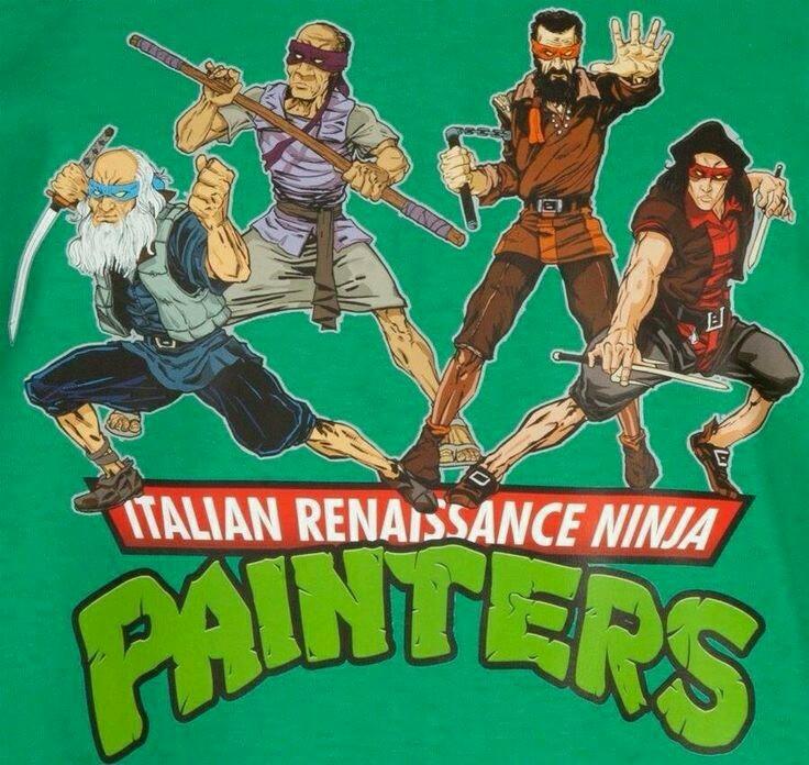 Les artistes ninjas de la renaissance italienne - meme