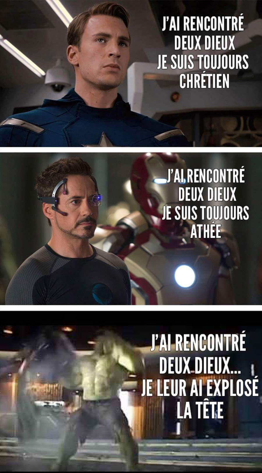 Nous, on a un Hulk - meme