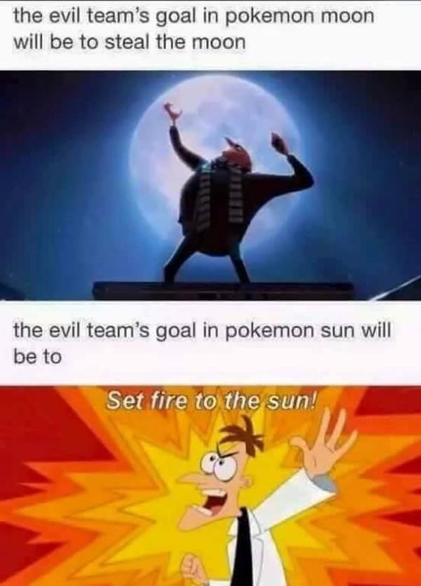 Sun or moon? - meme