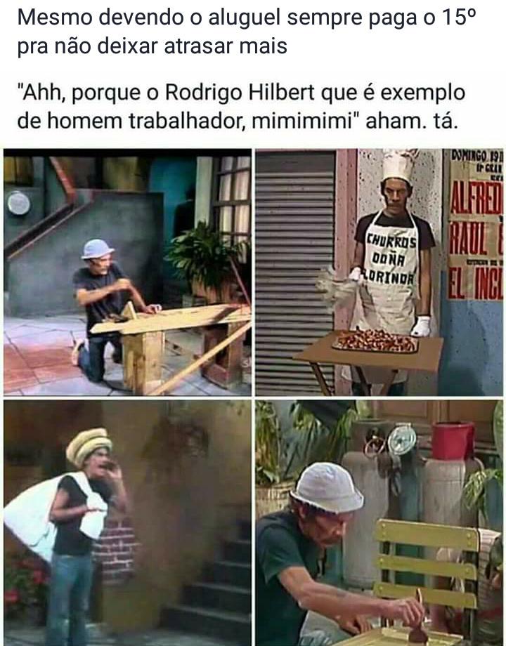 Seu Madruga >>>>> Rodrigo Hilbert/ Bini mito - meme