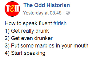 Speak Irish or danish in FOUR easy steps! - meme