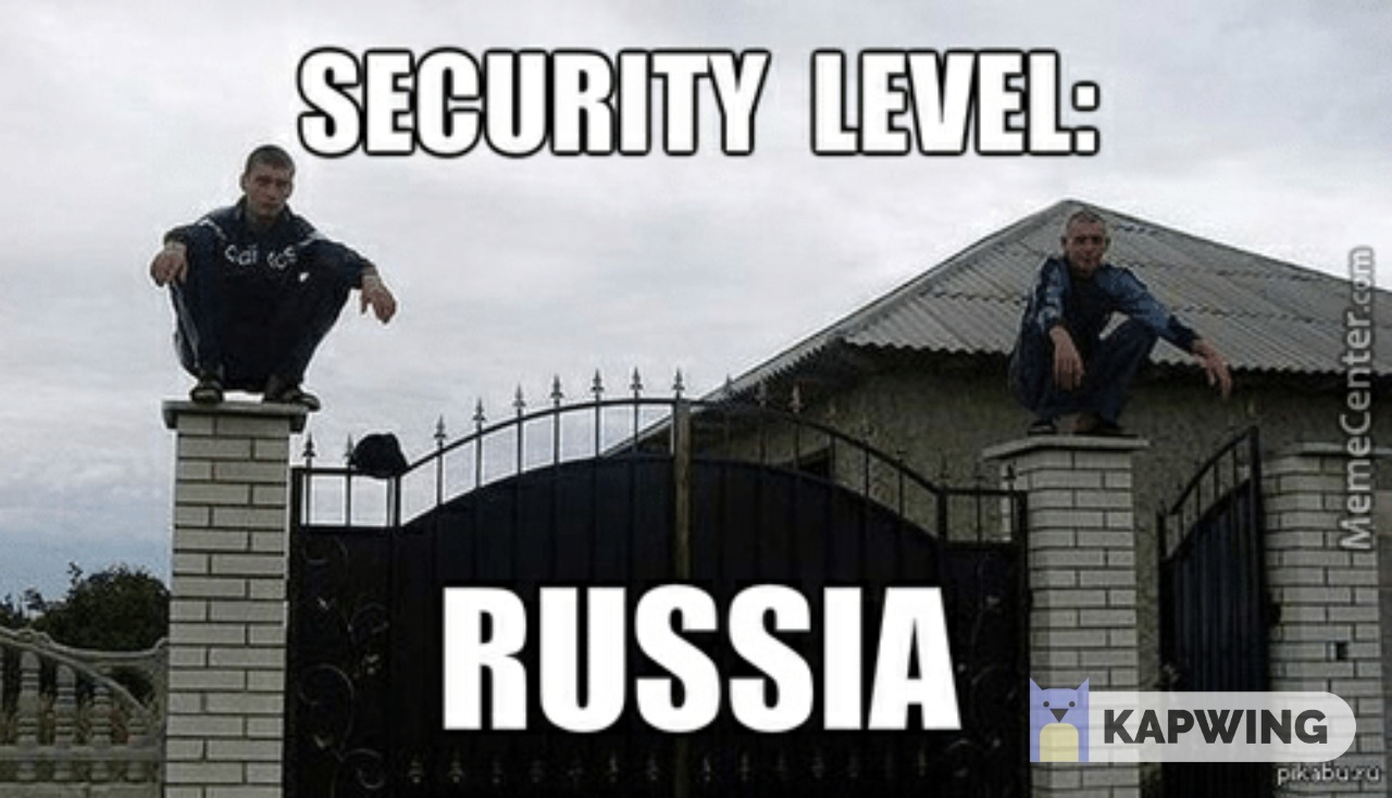 Russia Security - meme