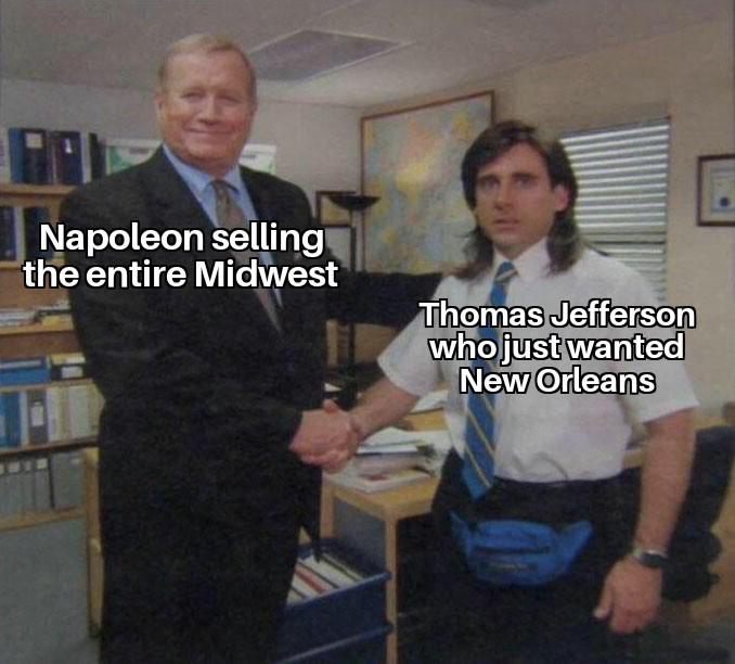 Napoleon got fleeced - meme