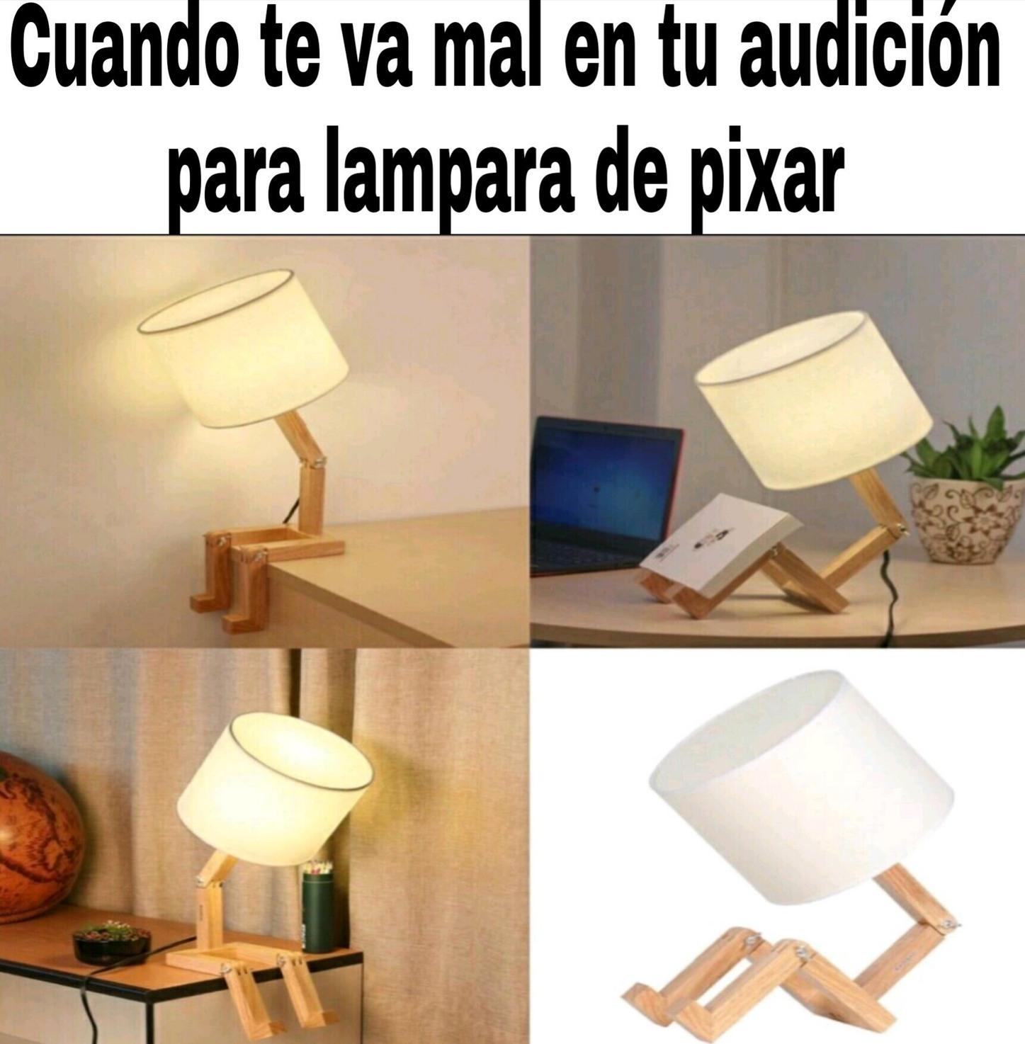 F por la lámpara - meme