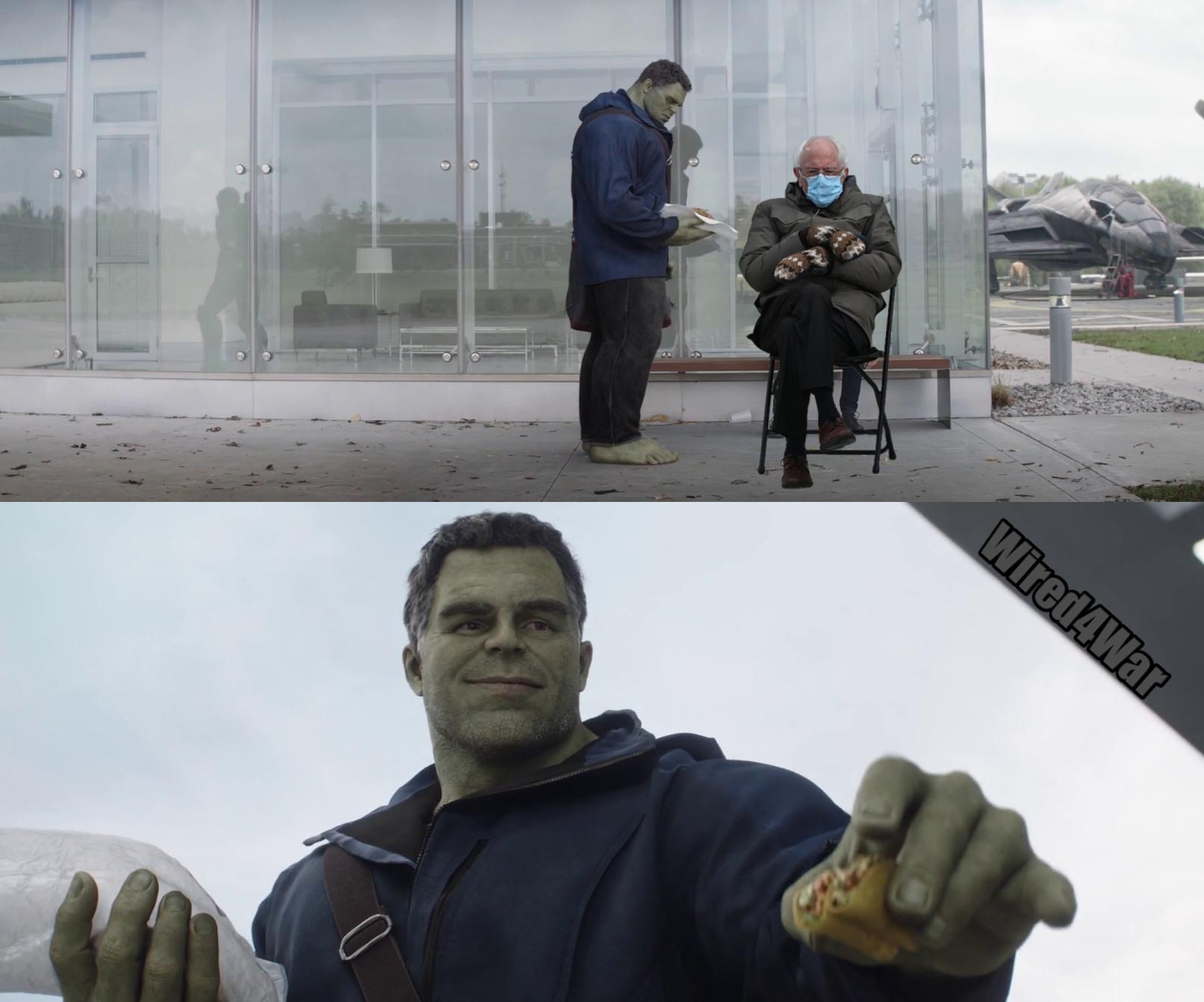 Bernie Sanders Hulk meme