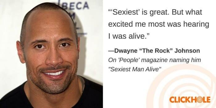 Dwayne is happy to be alive - meme