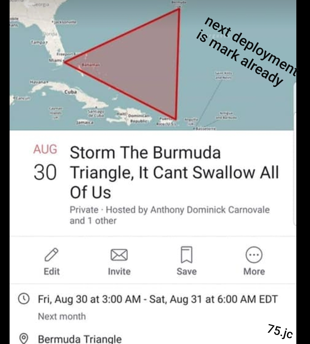 To the fkng burmuda triangle mtf jump jump jump - meme