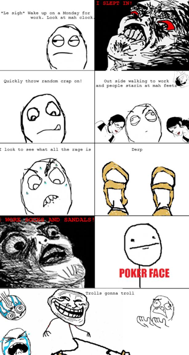 socks and sandals - meme