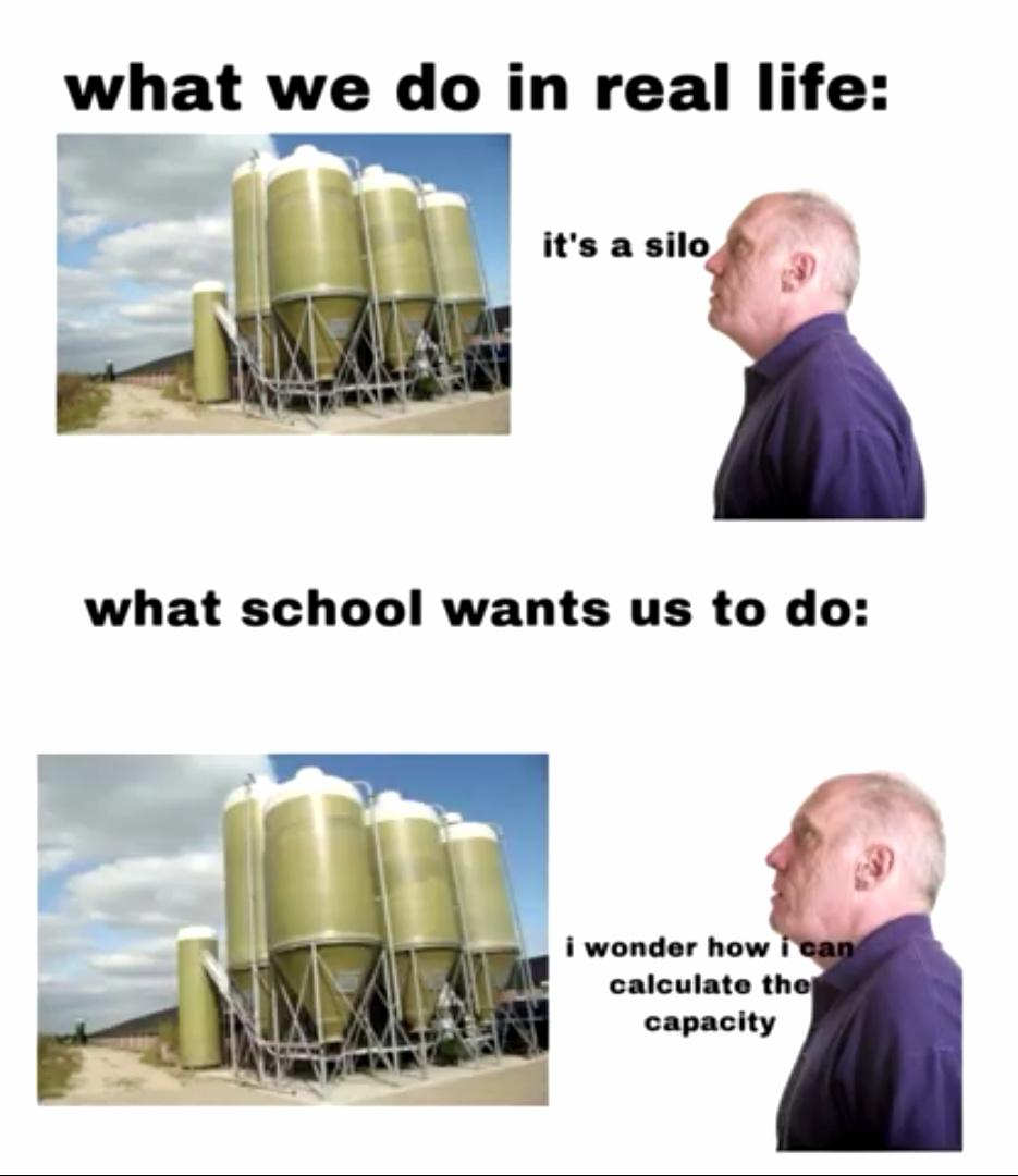 TEACH IT'S JUST A SILO - meme