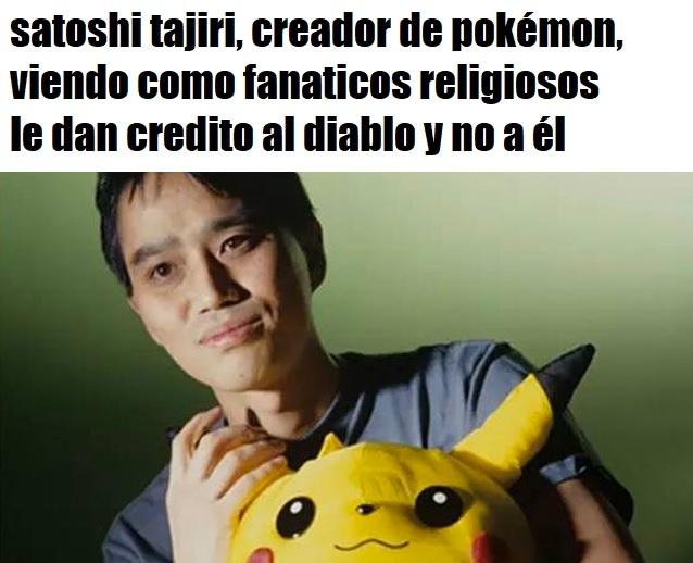 satoshi de pokemon - meme