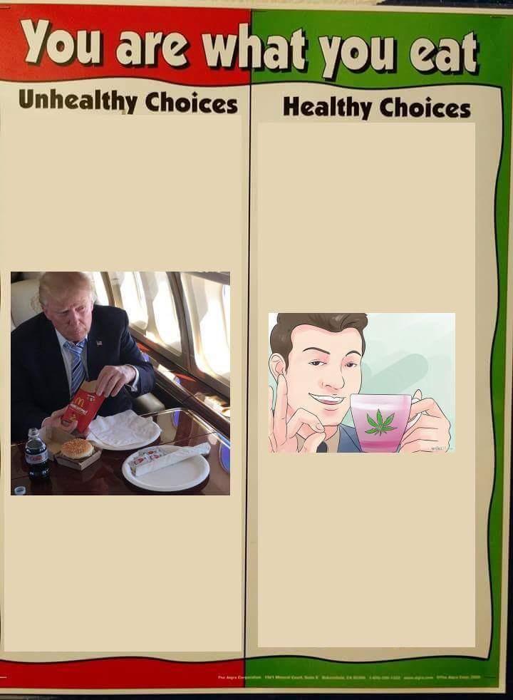 Don't drink McDonalds, drink weed instead - meme