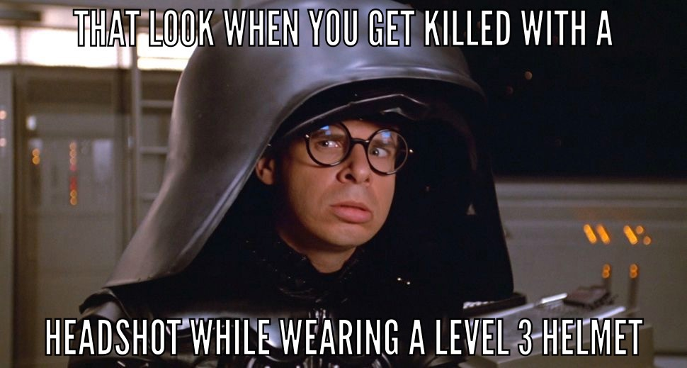 Level 3 helmet - meme