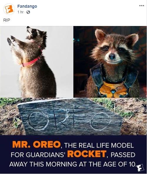 Rest in Peace Mr Oreo, rest in peace - meme