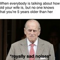 Young but not immortal like his wife