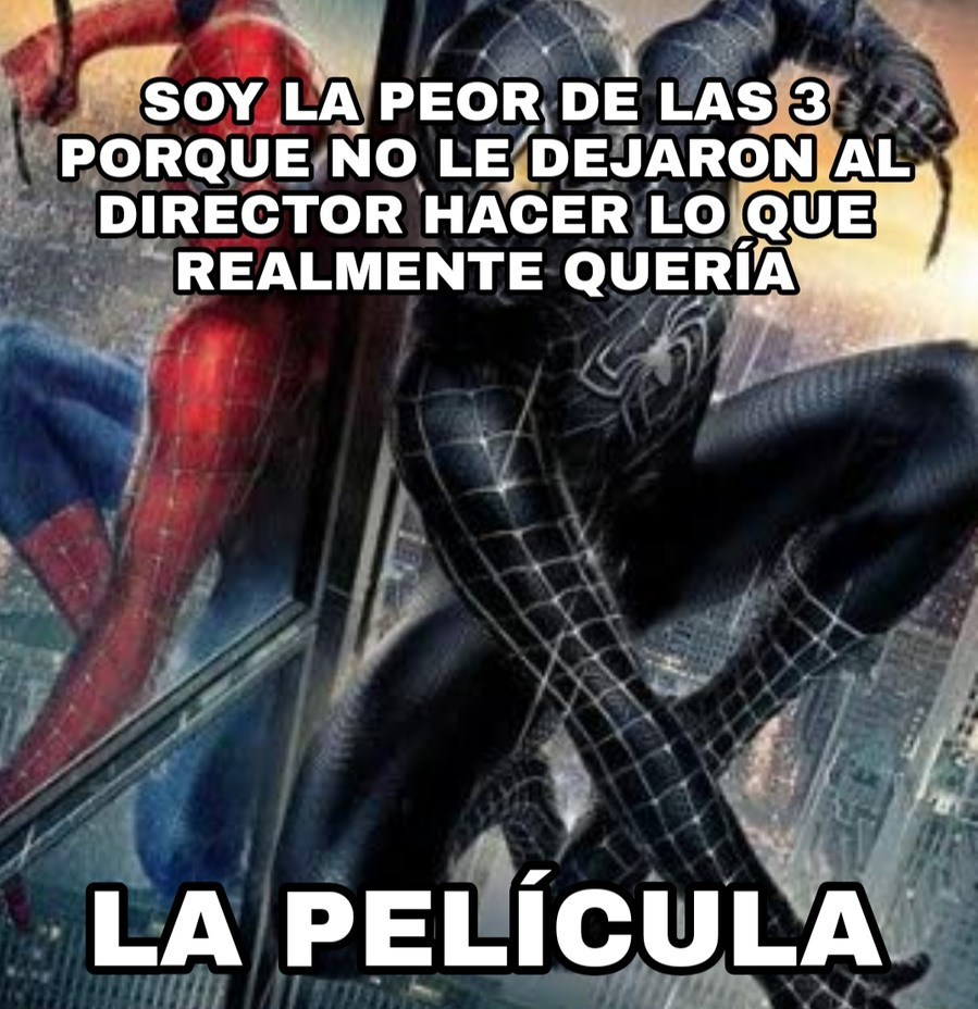 Pobre Spiderman 3 - meme