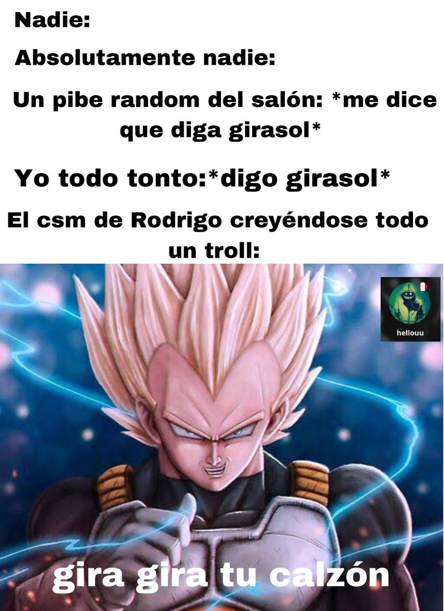 Rodrigo era literalmente el troll del salón - meme
