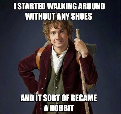 Filthy hobbitses - meme