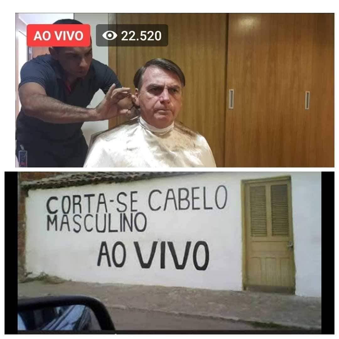 A parede do salão do Seu Juquinha previu o governo Bolsonaro - meme
