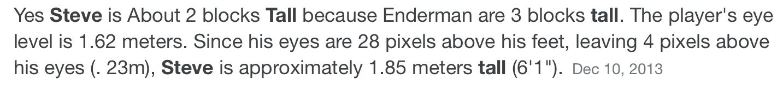 """Bruh does that mean an enderman is 9'1.5"""" - meme"""