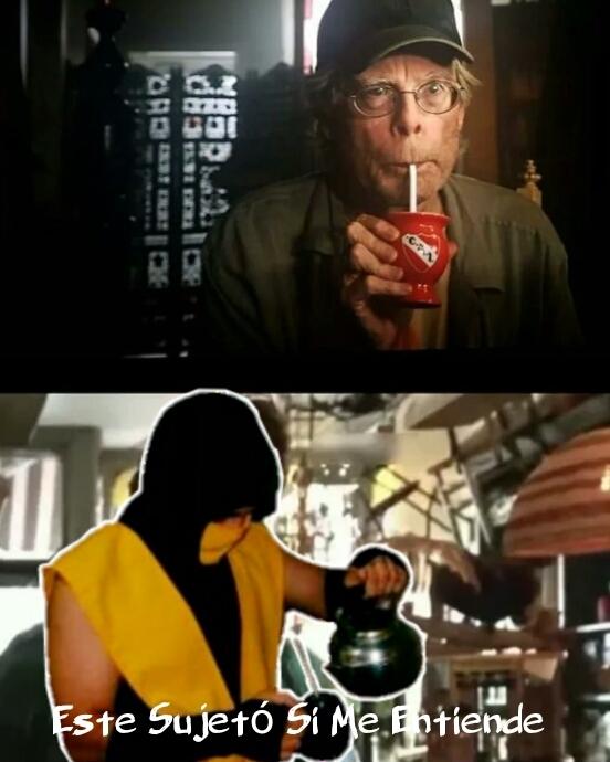 Stephen King y el mate - meme