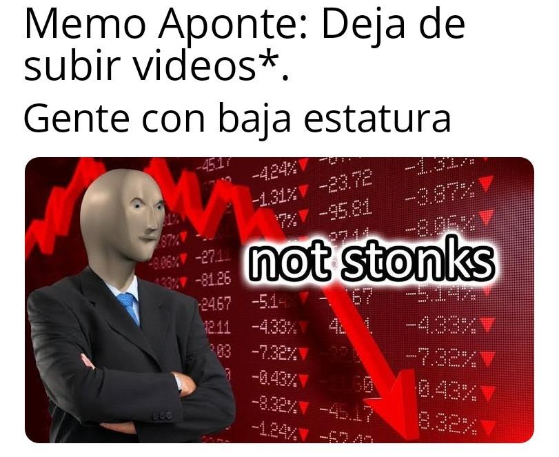 Me pregunto porque Memo Aponte contrata a enanos para hacer sus horribles videos - meme